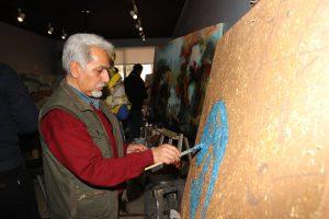 ورکشاپ-یک-روزه-هنرمندان-نقاش-مدرسه-ایده-۶-پرویز حیدرزاده