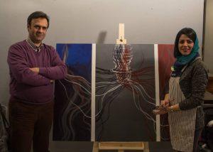 ورکشاپ-یک-روزه-هنرمندان-نقاش-مدرسه-ایده-۶-یلدا بلوری