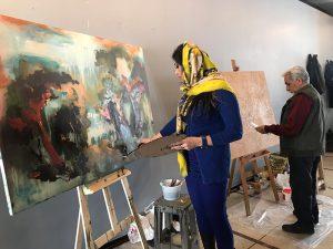 ورکشاپ یک روزه هنرمندان نقاش-گالری ایده