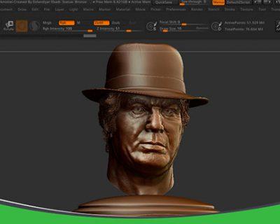 مدلسازی و مجسمه سازی با برنامه ZBrush