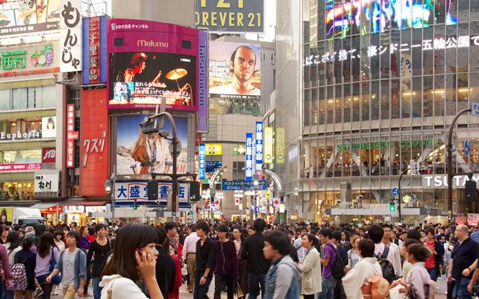 خیابانی شلوغ در توکیو