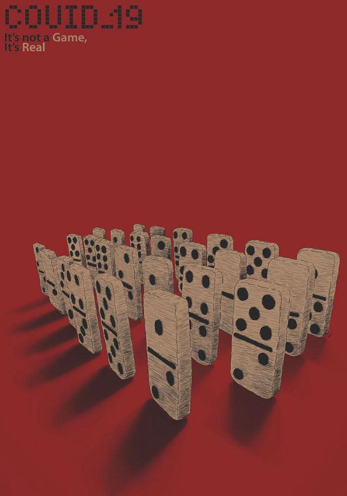 آثار طراحی پوستر کوید19